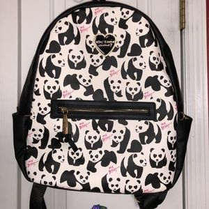 BETSEY JOHNSON LEATHER PANDA BACKPACK